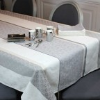 Lot de 2 serviettes de table SENOZAN Jacquard Naturel