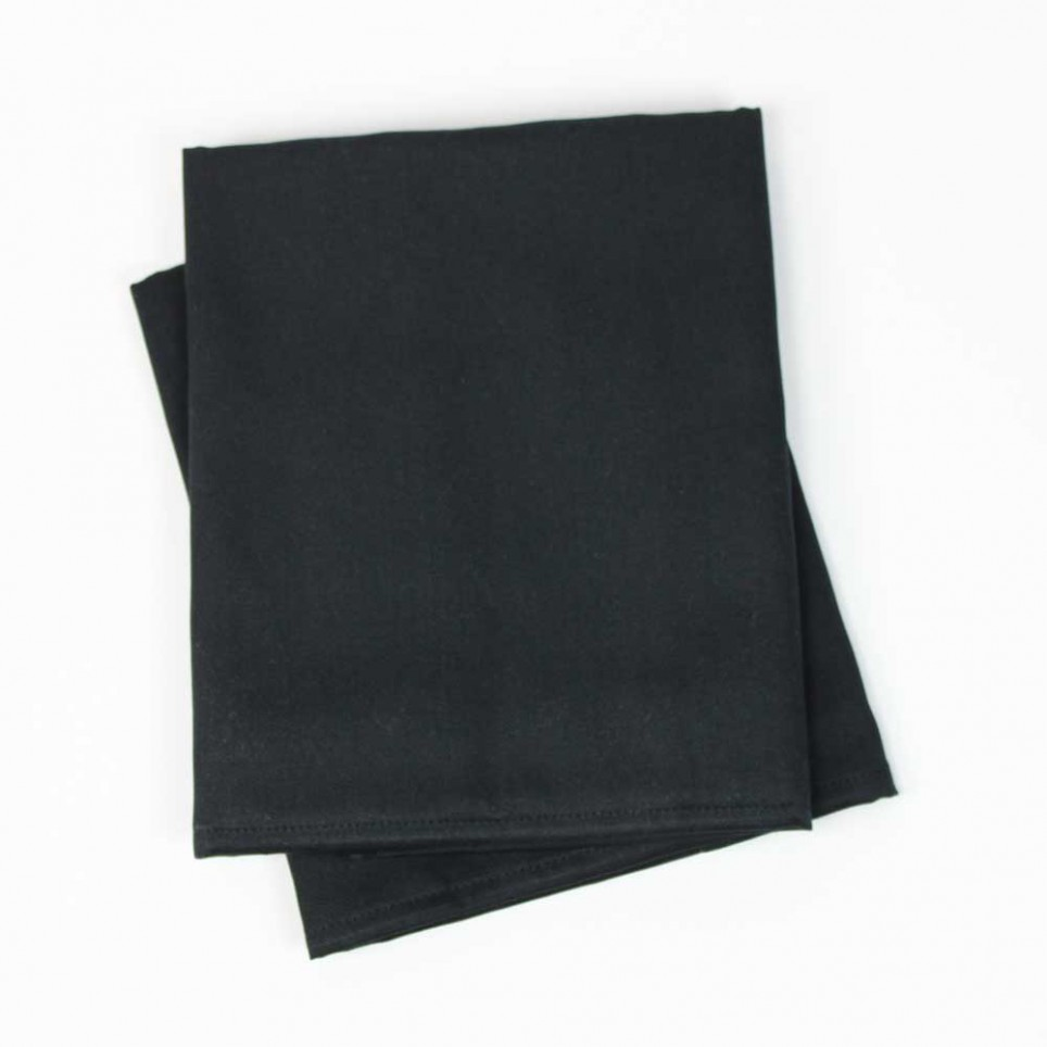 Lot de 2 serviettes de table coton BAZAS Noir