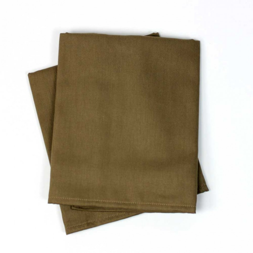 Lot de 2 serviettes de table coton BAZAS Taupe
