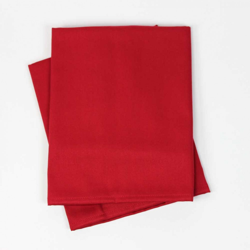 Lot de 2 serviettes de table coton BAZAS Rouge Carmin