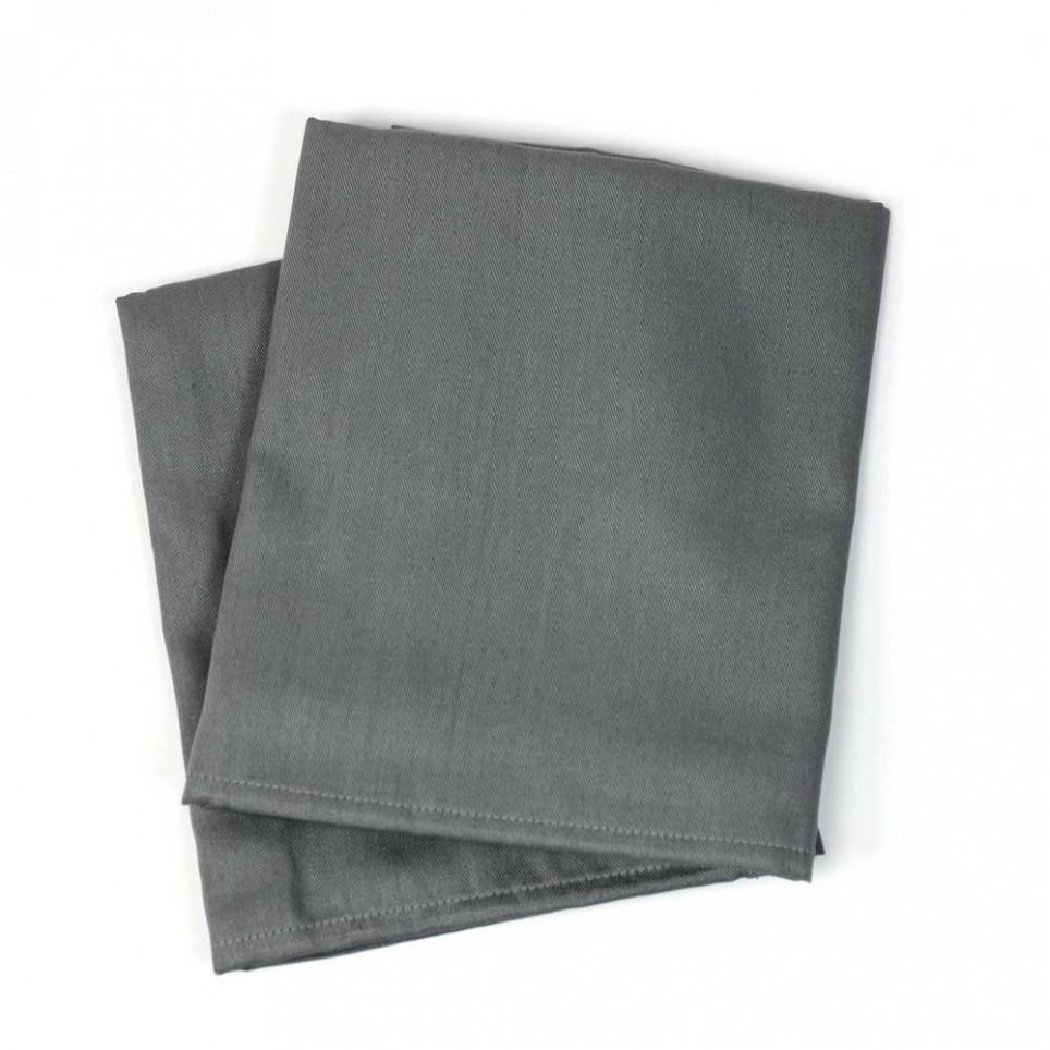 serviette de table coton bazas gris b ton linge de table maison. Black Bedroom Furniture Sets. Home Design Ideas