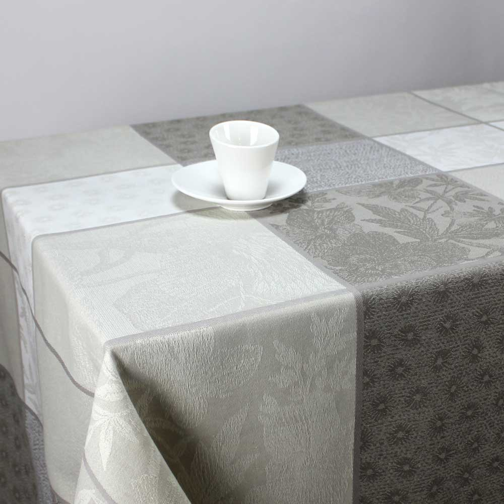 nappe jacquard rectangulaire valbonne naturel linge de table maison. Black Bedroom Furniture Sets. Home Design Ideas