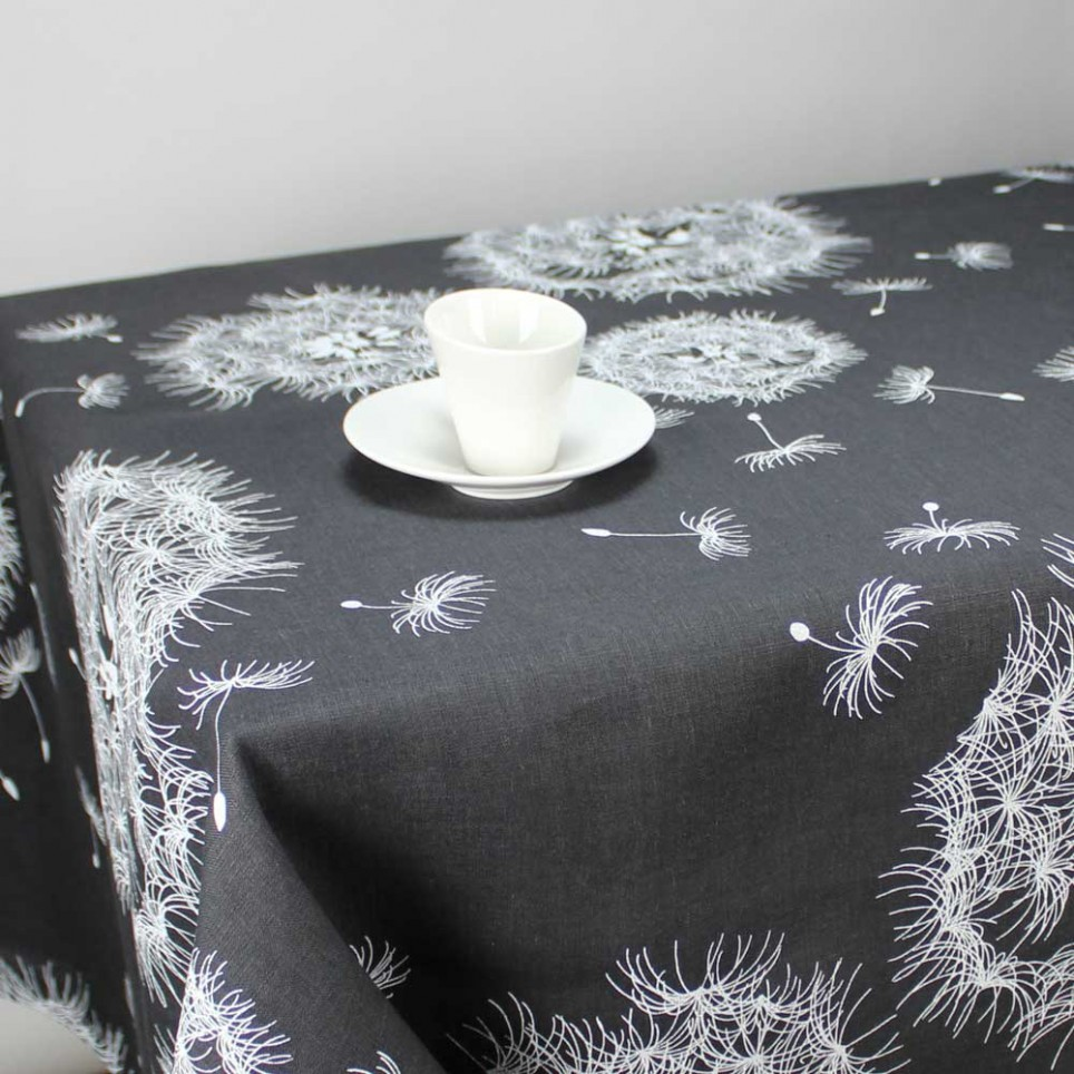 nappe en lin rectangulaire senlis gris linge de table. Black Bedroom Furniture Sets. Home Design Ideas