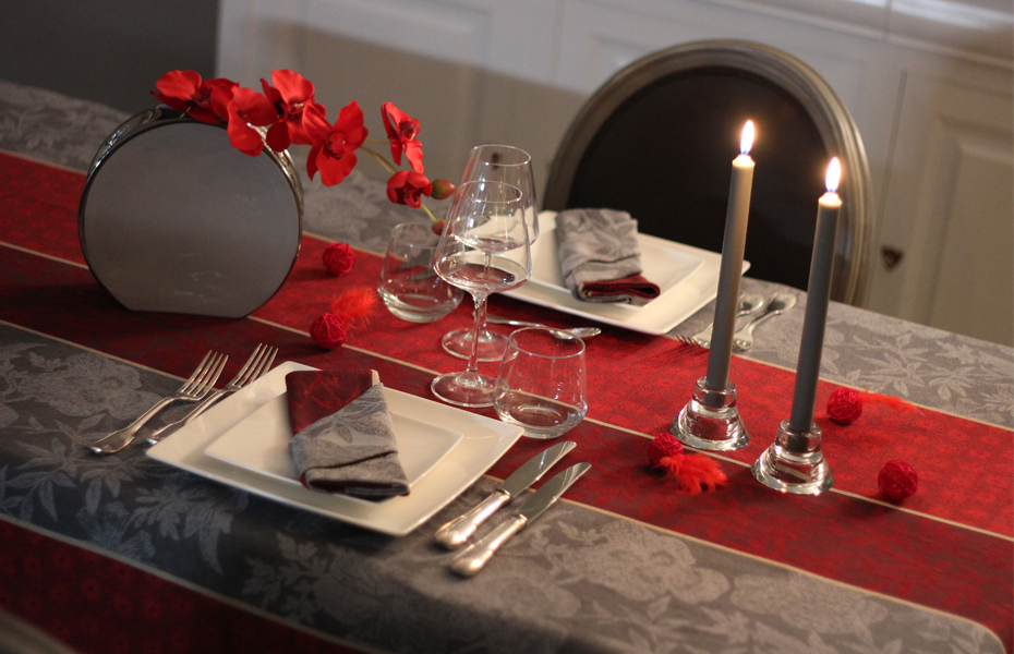 Saint valentin notre d coration de table madame la for Deco saint valentin